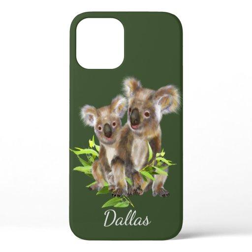 Cute Little Koala Bear Australian Animal Art  iPhone 12 Case