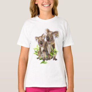 Cute Little Koala Bear Australian Animal Art T-Shirt