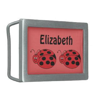 Cute Little Ladybug Cartoon Kawaii Friendly Art Belt Buckle
