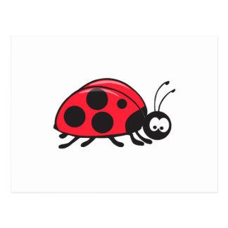 cute little ladybug postcard