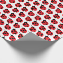 Cute Little Ladybug Wrapping Paper