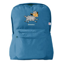 cute little lamb american apparel™ backpack