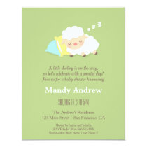 Cute Little Lamb Baby Shower Party Invitations