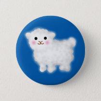 Cute Little Lamb Pinback Button