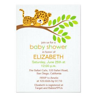 Cute Little Leopard Baby Shower Invitation