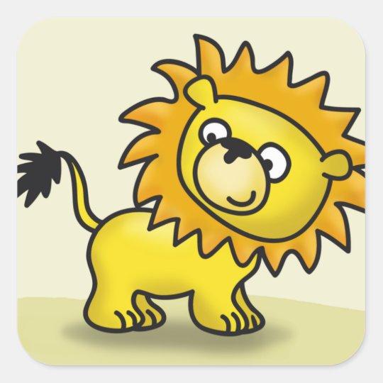 Cute little Lion Square Sticker