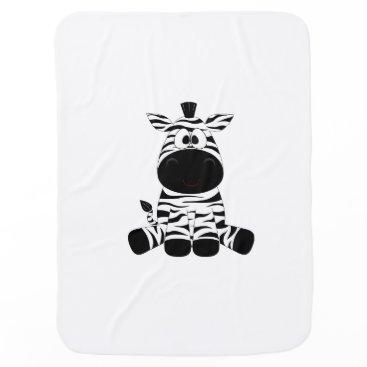 Beach Themed Cute little lost zebra blankie stroller blanket
