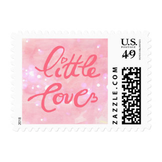 Cute Little Love Baby Girl Birth Announcement Postage Stamps