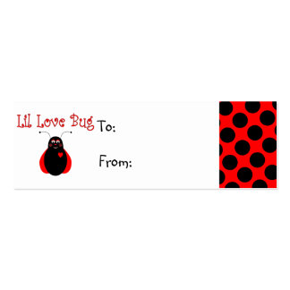 Cute Little Love Bug Ladybug Gift Tag Business Cards