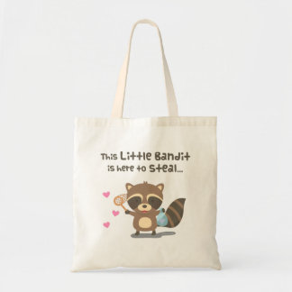 Cute Little Masked Bandit Raccoon Tote Bag