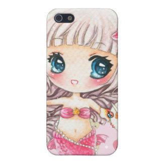 Cute little mermaid and kawaii golden fish iPhone 5 cover