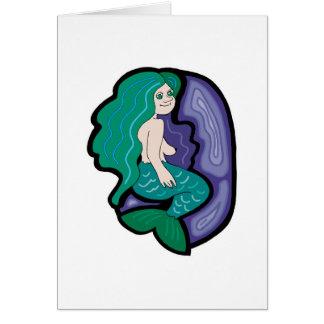 cute little mermaid card
