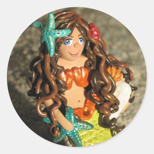 Cute little Mermaid Classic Round Sticker