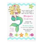 Cute Little Mermaid Custom Announcements