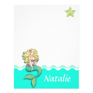 Cute Little Mermaid Letterhead