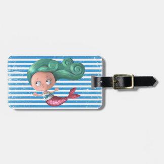 Cute Little Mermaid Luggage Tag