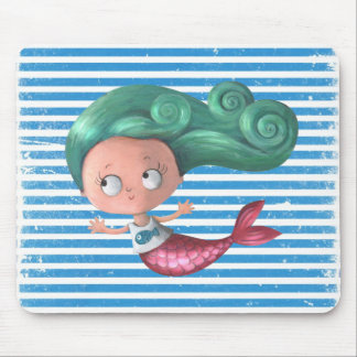 Cute Little Mermaid Mouse Pad