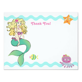 Cute Little Mermaid Note Card