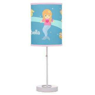 Cute Little Mermaid Sea Creatures Girls Room Table Lamp