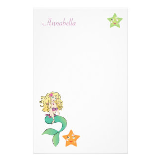 Cute Little Mermaid Stationery