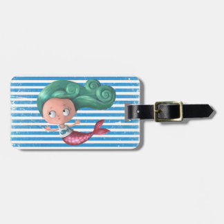 Cute Little Mermaid Tag For Luggage