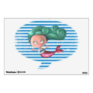 Cute Little Mermaid Wall Decal