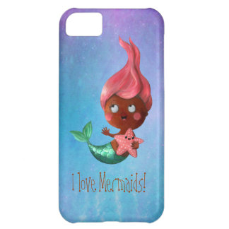Cute Little Mermaid with Pink Hair iPhone 5C Case