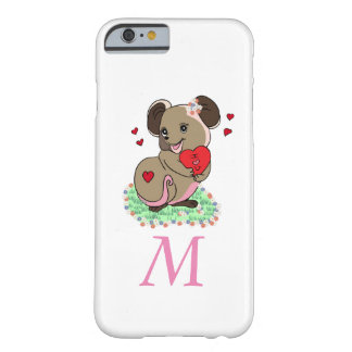 Cute little mice holding a heart barely there iPhone 6 case