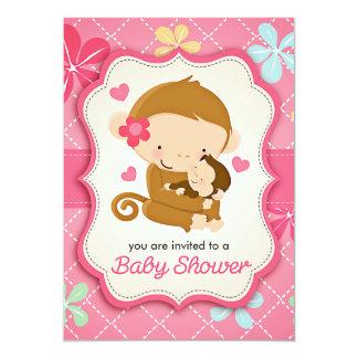 Cute Little Monkey Baby Shower Card