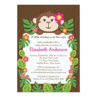 Cute Little Monkey Baby Shower Invitation
