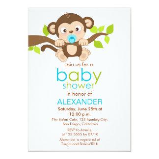 Monkey Baby Shower Invitations 1300 Monkey Baby Shower