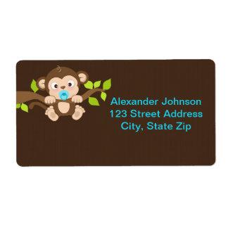 Cute Little Monkey Boy Shipping Labels
