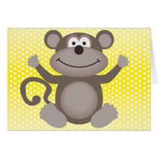 Cute Little Monkey Card