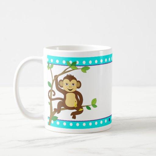 Cute Little Monkey Classic White Coffee Mug