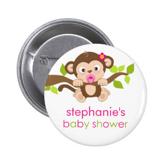 monkey baby shower buttons pins zazzle