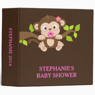 Cute Little Monkey Girl Photo Album Binder