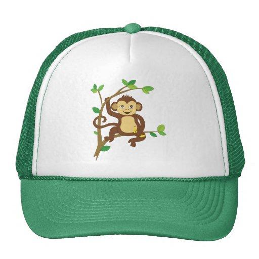 Cute Little Monkey Mesh Hat