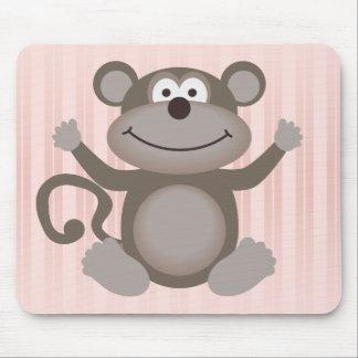 Cute Little Monkey Mouse Pad