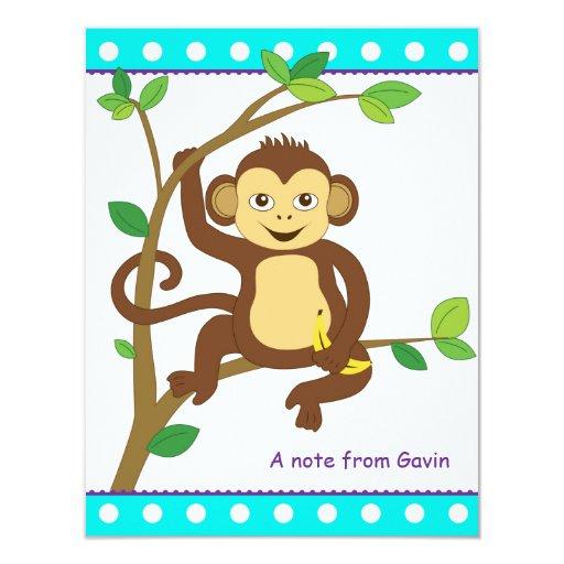 Cute Little Monkey Note Card