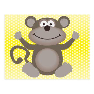 Cute Little Monkey Postcard