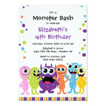 CUTE Little Monster Bash Birthday Party Custom Announcement