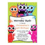 CUTE Little Monster Bash Birthday Party Custom Invite