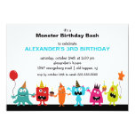 """CUTE Little Monster Bash Birthday Party 5"""" X 7"""" Invitation Card"""