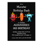 CUTE Little Monster Bash Birthday Party Personalized Invite