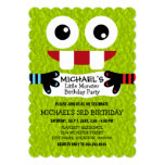 Cute Little Monster Birthday Party 5x7 Paper Invitation Card