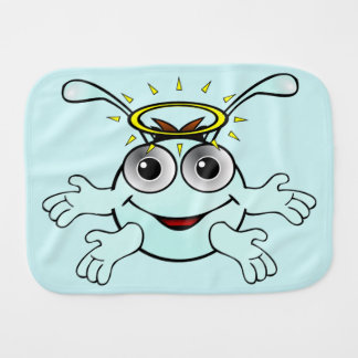 Cute little monster for baby - burp cloth
