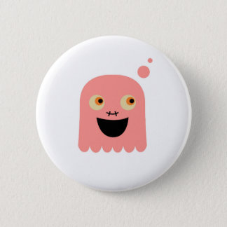 Cute little Monster on white Button
