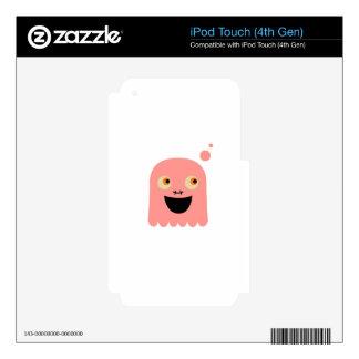 Cute little Monster on white iPod Touch 4G Skin