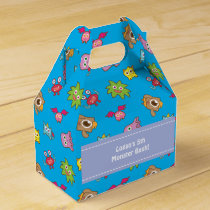 Cute Little Monster Pattern Birthday Party Favor Box