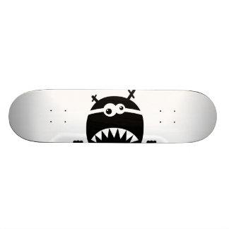 Cute little monster stencil skateboard deck